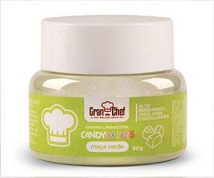 Corante em Pó Lipossolúvel Candy Colors Maça Verde 30g Granchef Rizzo Confeitaria