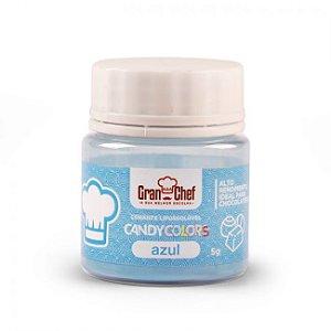 Corante em Pó Lipossolúvel Candy Colors Azul 5g Granchef Rizzo Confeitaria