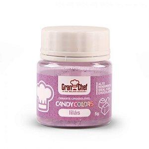 Corante em Pó Lipossolúvel Candy Colors Lilás 5g Granchef Rizzo Confeitaria