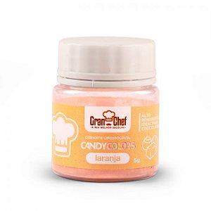 Corante em Pó Lipossolúvel Candy Colors Laranja 5g Granchef Rizzo Confeitaria