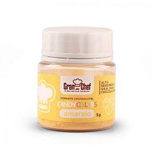 Corante em Pó Lipossolúvel Candy Colors Amarelo 5g Granchef Rizzo Confeitaria