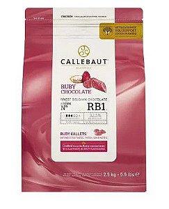 Chocolate em Gotas Ruby Callebaut 2,5 kg - Rizzo Confeitaria