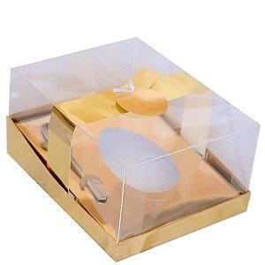 Caixa Ovo de Colher com Berço Regulável Ouro Metálico 1 un. Eluhe Rizzo Confeitaria