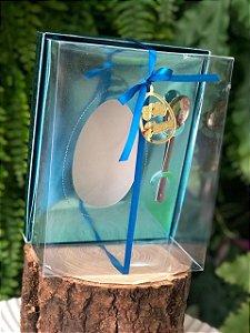 Caixa Ovo de Colher com Berço Regulável Azul Metálico 1 un. Eluhe Rizzo Confeitaria
