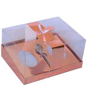 Caixa Ovo de Colher Duplo com Berço Regulável Rose Metálico 1 un. Eluhe Rizzo Confeitaria