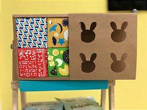 Caixa Pão de Mel 15,5X15,5X5 com Cubo 4 divisões Rizzo Confeitaria