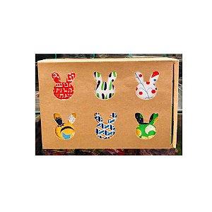 Caixa Pão de Mel 23X15,5X5 com Cubo 6 divisões Rizzo Confeitaria