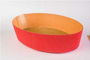 Forma Colomba Oval Forneável 500g Vermelho com 10 un. Ecopack Rizzo Confeitaria