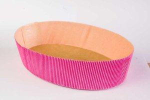 Forma Colomba Oval Forneável 500g Pink com 10 un. Ecopack Rizzo Confeitaria