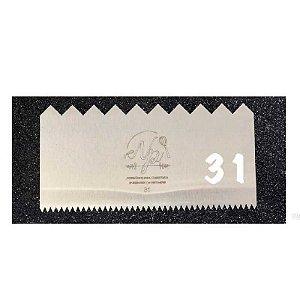 Espátula Decorativa para Bolo em Inox Mod. 31 NP Rizzo Confeitaria