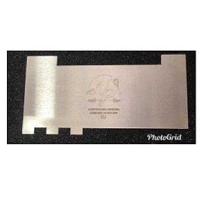 Espátula Decorativa para Bolo em Inox Mod. 19 NP Rizzo Confeitaria