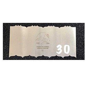 Espátula Decorativa para Bolo em Inox Mod. 30 NP Rizzo Confeitaria