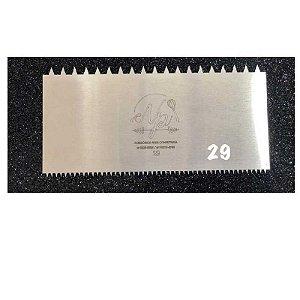Espátula Decorativa para Bolo em Inox Mod. 29 NP Rizzo Confeitaria