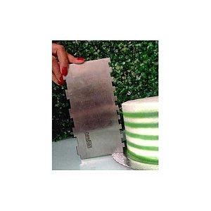 Espátula Decorativa para Bolo em Inox Mod. 11 NP Rizzo Confeitaria