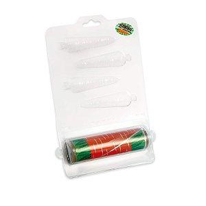 Forma de Acetato Cenoura com Chumbo Cromus Rizzo Confeitaria