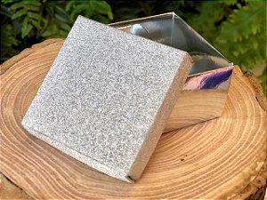 Caixa Retangular Gliter Prata com 12un. ArtLille  Rizzo Confeitaria