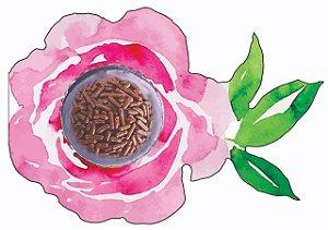 Cartão Blister Flor Ref. 967 com 10 un. Erika Melkot Rizzo Confeitaria