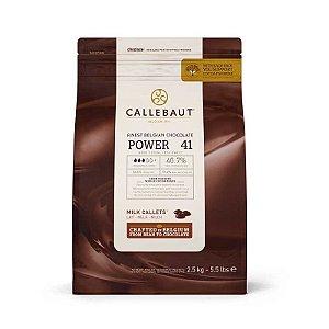 Chocolate Callebaut Power 841 BR-U75 Gotas 2,5 kg Rizzo Confeitaria