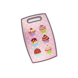 Tábua de Corte Churrasco Cupcake 30 x 20cm Clink Rizzo Confeitaria