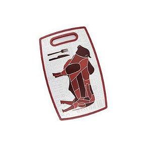 Tábua de Corte Churrasco Vermelho 30 x 20cm Clink Rizzo Confeitaria