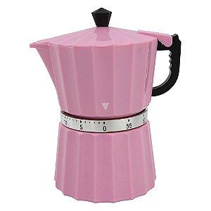 Timer Formato Cafeteira Rosa Clink Rizzo Confeitaria