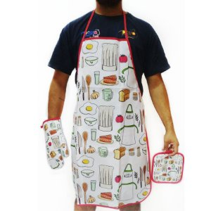 Kit Cozinha Avental com 3 Peças Rizzo Confeitaria