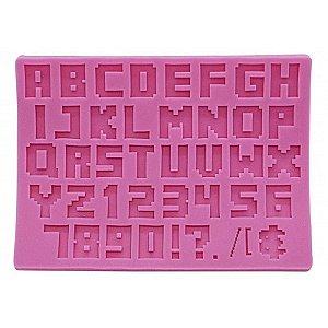 Molde de Silicone Letras, Números e Símbolos Prime Chef Rizzo Confeitaria