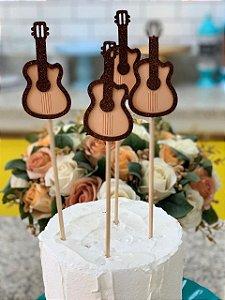 Palito Decorativo de Festa Junina Viola 4 un. Vivarte Rizzo Confeitaria