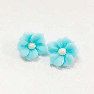 Confeitos Comestíveis Flor Misiotes Azul - Flores e Encantos de Açúcar Rizzo Confeitaria