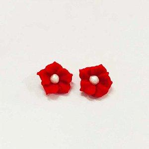 Confeitos Comestíveis Flor Misiotes Vermelha - Flores e Encantos de Açúcar Rizzo Confeitaria