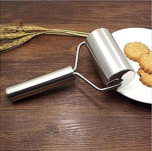 Mini Rolo para Massa de Metal (9,3cm x 4,6cm) Artlille Rizzo Confeitaria