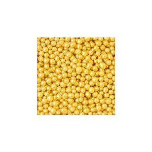 Confeitos comestíveis Pérola Pequena Amarela Jeni Joni Rizzo Confeitaria