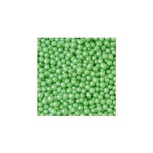 Confeitos comestíveis Pérola Pequena Verde Jeni Joni Rizzo Confeitaria