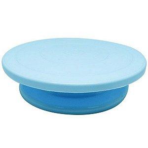 Bailarina - Prato Giratório Azul 30 cm Solrac Rizzo Confeitaria