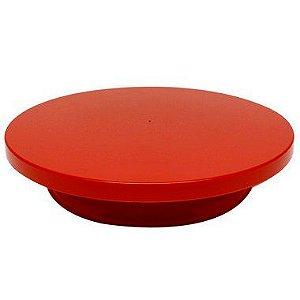 Bailarina - Prato Giratório Vermelho 30 cm Solrac Rizzo Confeitaria