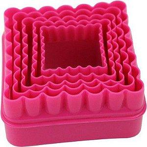 Kit Cortador Plástico Quadrado 5 pç Confeitudo Rizzo Confeitaria