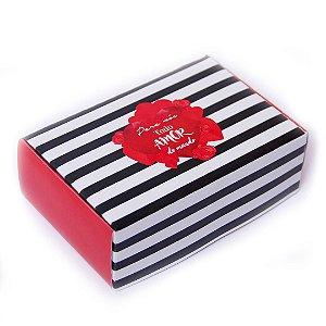 Caixa para 6 doces Para nós Todo Amor ... com 10 un. Eluhe Rizzo Confeitaria