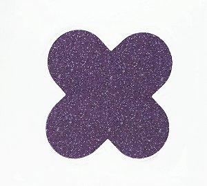 Forminha 4 Pétalas Glitter Roxo Cod. 10.87 com 50 un. Nc Toys Rizzo Confeitaria
