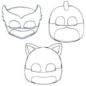 Cortador Kit Heroi PJ Masks Ref. 295 RR Cortadores Rizzo Confeitaria