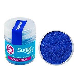 Pó para Decoração Azul Royal Cintilante 3g Sugar Art Rizzo Confeitaria