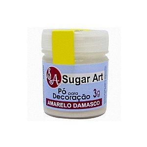 Pó para Decoração Amarelo Damasco 3g Sugar Art Rizzo Confeitaria