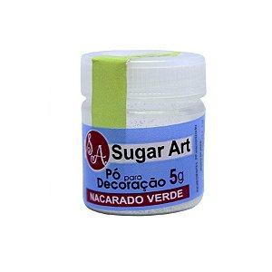 Pó para Decoração Brilhante Nacarado Verde 5g Sugar Art Rizzo Confeitaria