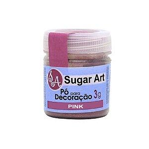 Pó para Decoração Pink Cintilante 3g Sugar Art Rizzo Confeitaria