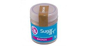 Pó para Decoração Bronze Metálico 3g Sugar Art Rizzo Confeitaria