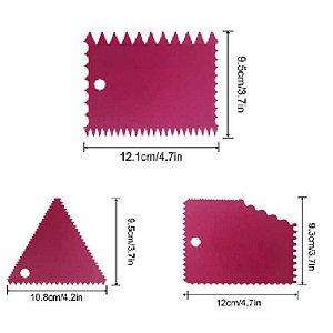 Kit Espátula Decorativa com 3 peças Rizzo Confeitaria