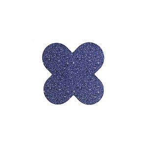 Forminha 4 Pétalas Glitter Azul Cod. 10.88 com 50 un. Nc Toys Rizzo Confeitaria