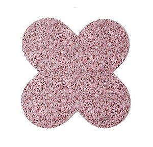 Forminha 4 Pétalas Glitter Rosa Cod. 10.84 com 50 un. Nc Toys Rizzo Confeitaria