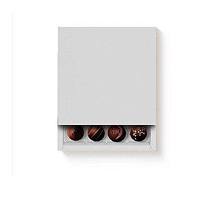 Caixa Luva Quadrada 16 doces Branca com 1 un. Cromus Rizzo Confeitaria