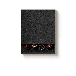 Caixa Luva Quadrada 16 doces Preta com 1 un. Cromus Rizzo Confeitaria