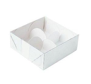 Caixa Nº 4 Branca com Tampa Transparente 10 un. Assk Rizzo Confeitaria